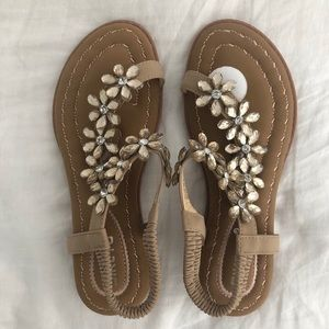 Siketu rhinestone bling sandals size 38 7
